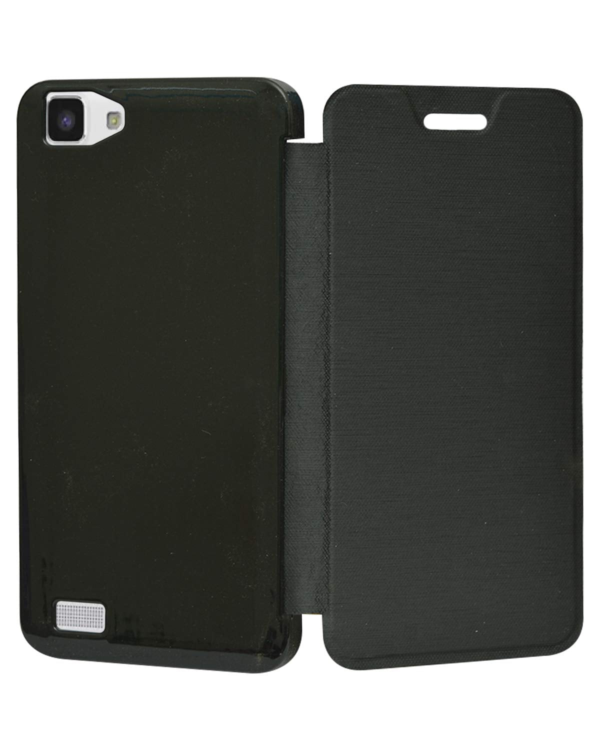 Vivo Y27 Flip Case Diary Folio Flap Case Cover - Black
