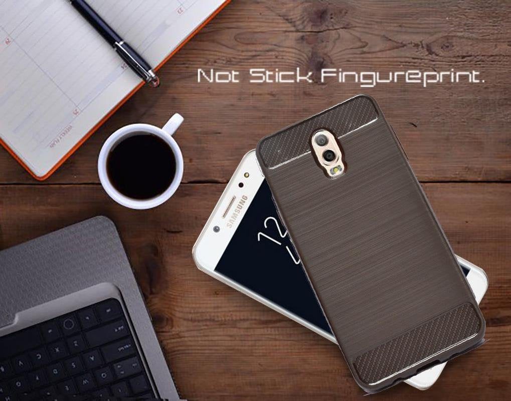 Samsung Galaxy J7 Plus Soft Matte Finish Back Case Cover - Brown