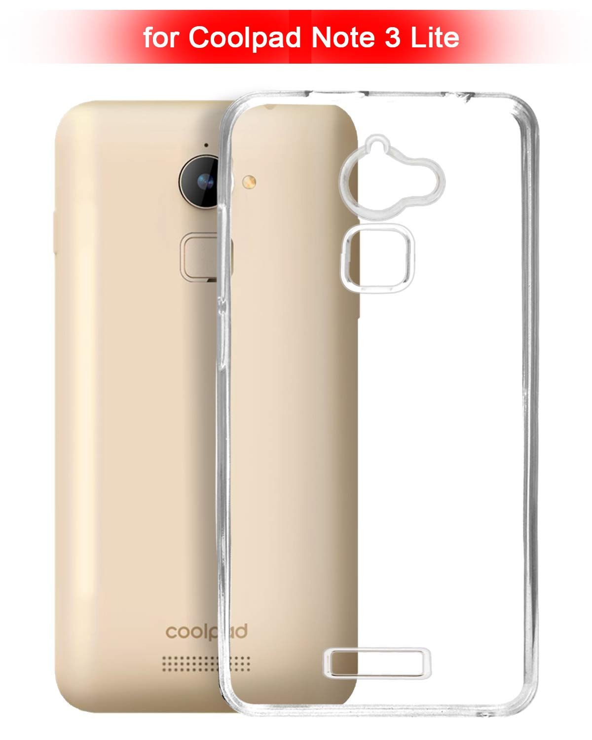 Coolpad Note 3 lite Silicone Soft Back Case Cover (Transparent)