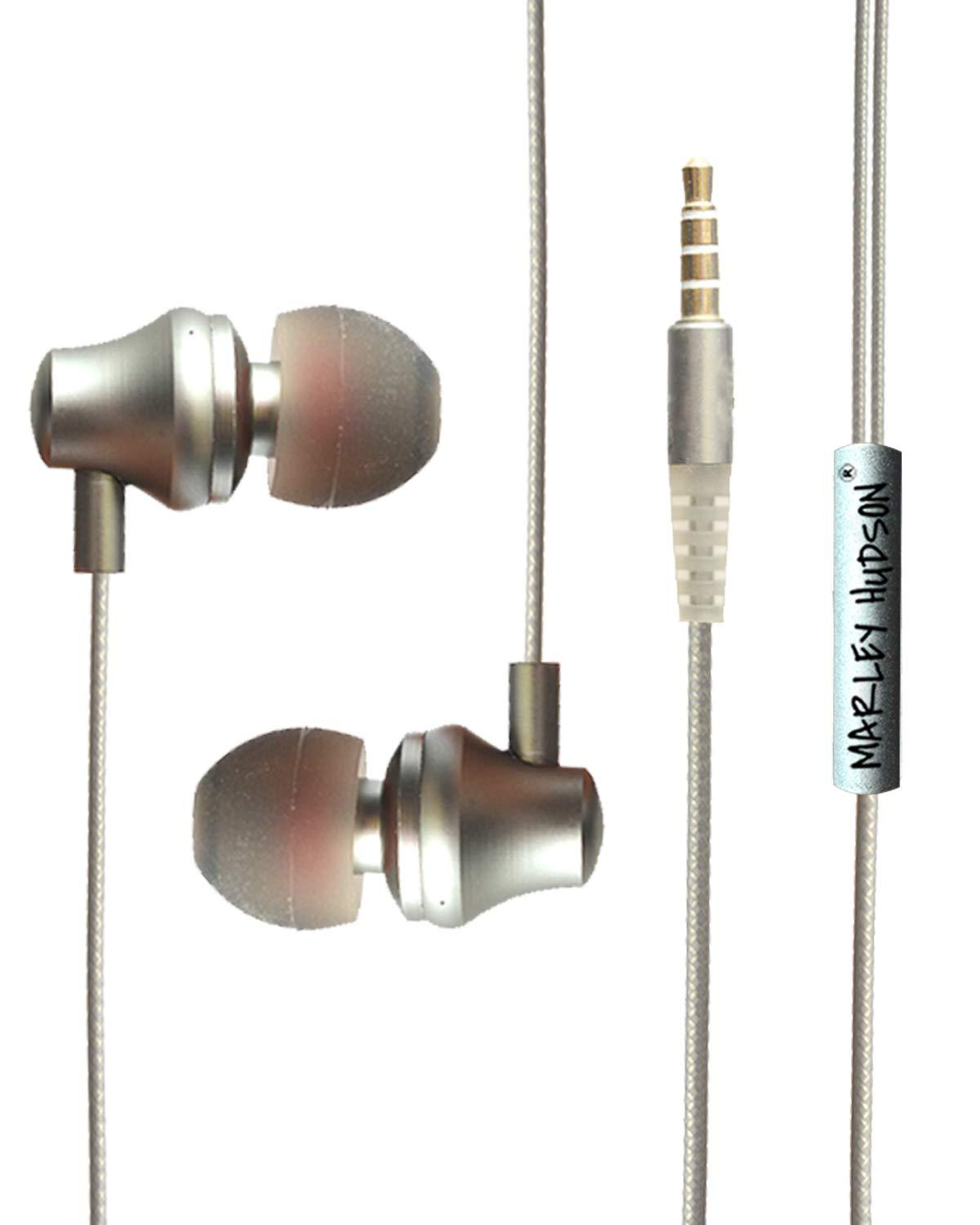 Marley Hudson Metal Super Bass Wired in Ear Earphones, Headsets, with Mic and Remote Control