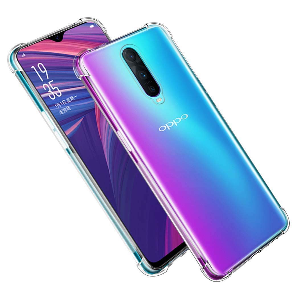 Oppo R17 Pro Soft PC TPU Bumper Slim Protective Back Cover Case (Transparent)