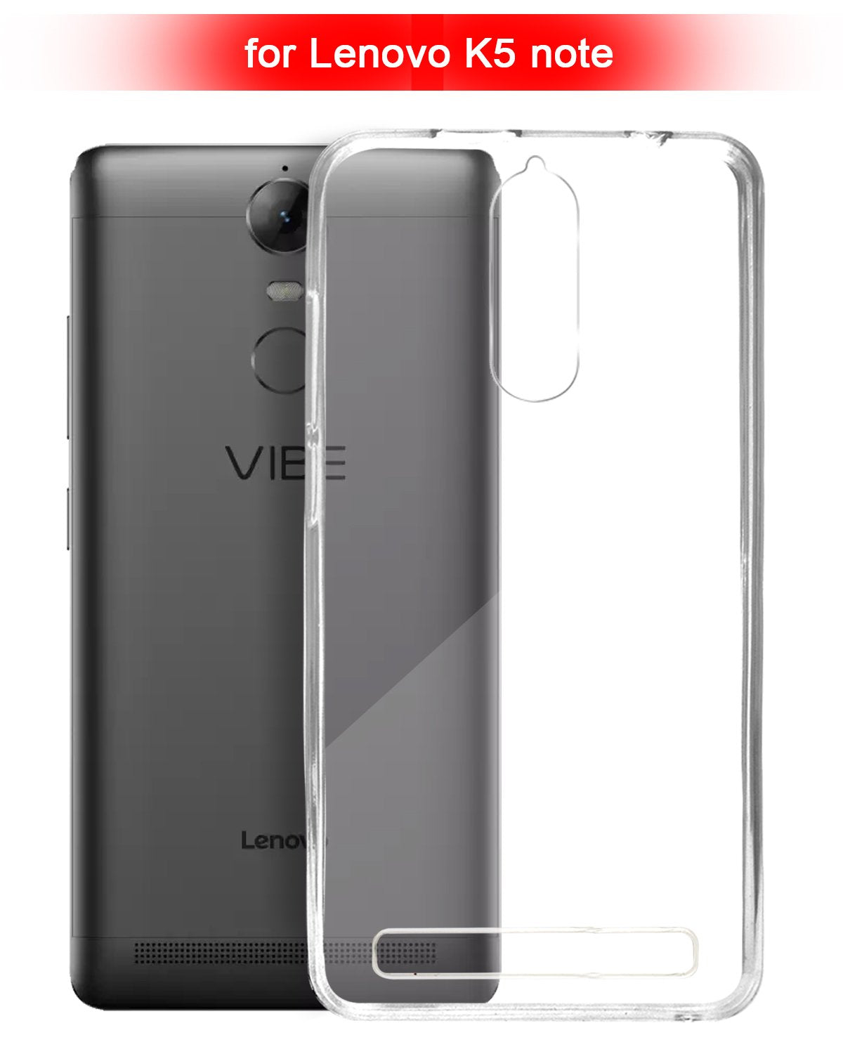 Lenovo K5 Note Silicone Soft Back Case Cover (Transparent)