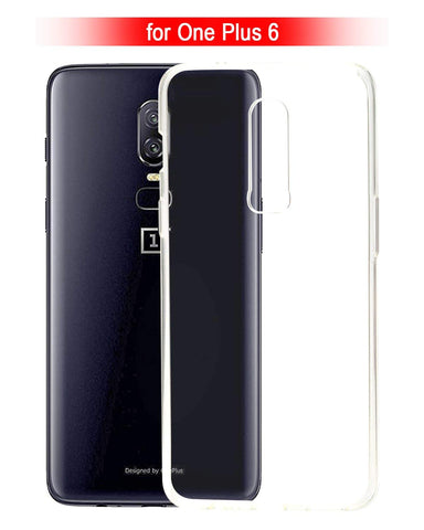 OnePlus 6  Silicone Soft Back Case Cover (Transparent)