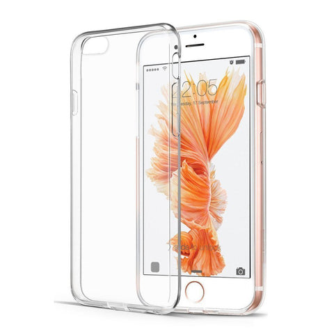Apple Iphone 6 Silicone Soft Back Case Cover (Transparent)