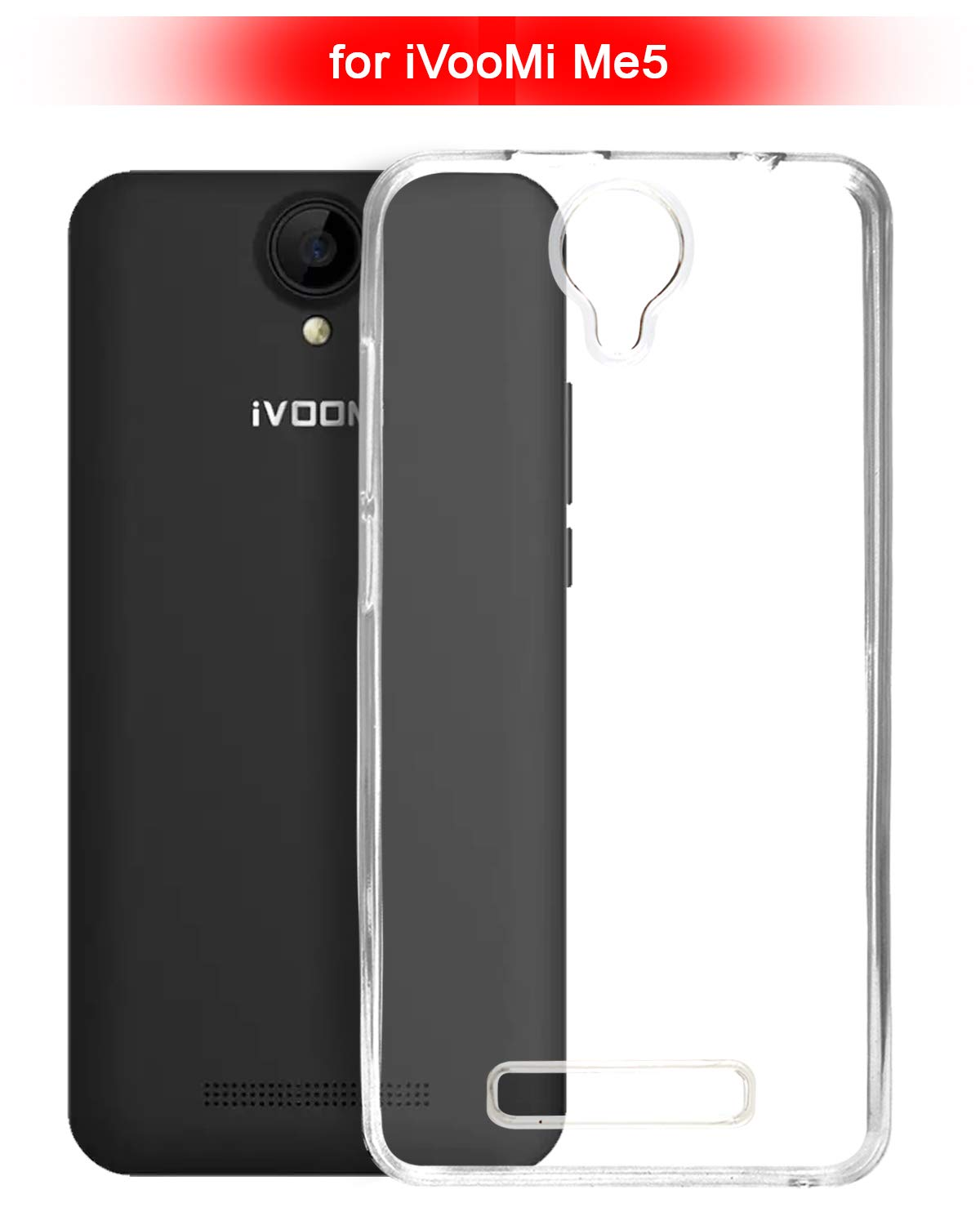 iVooMi Me5 Silicone Soft Back Case Cover (Transparent)