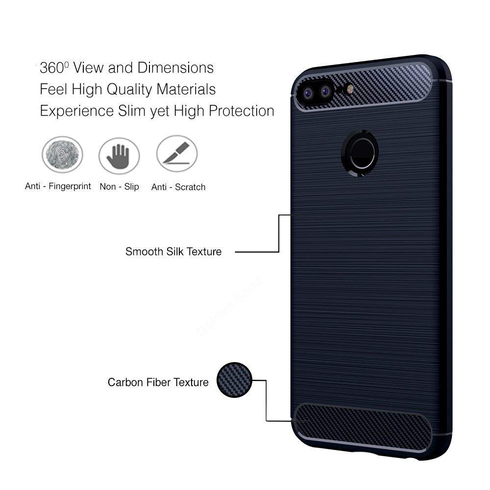 Huawei Honor 9N Rubberised Soft Back Case Protective Cover (Black)