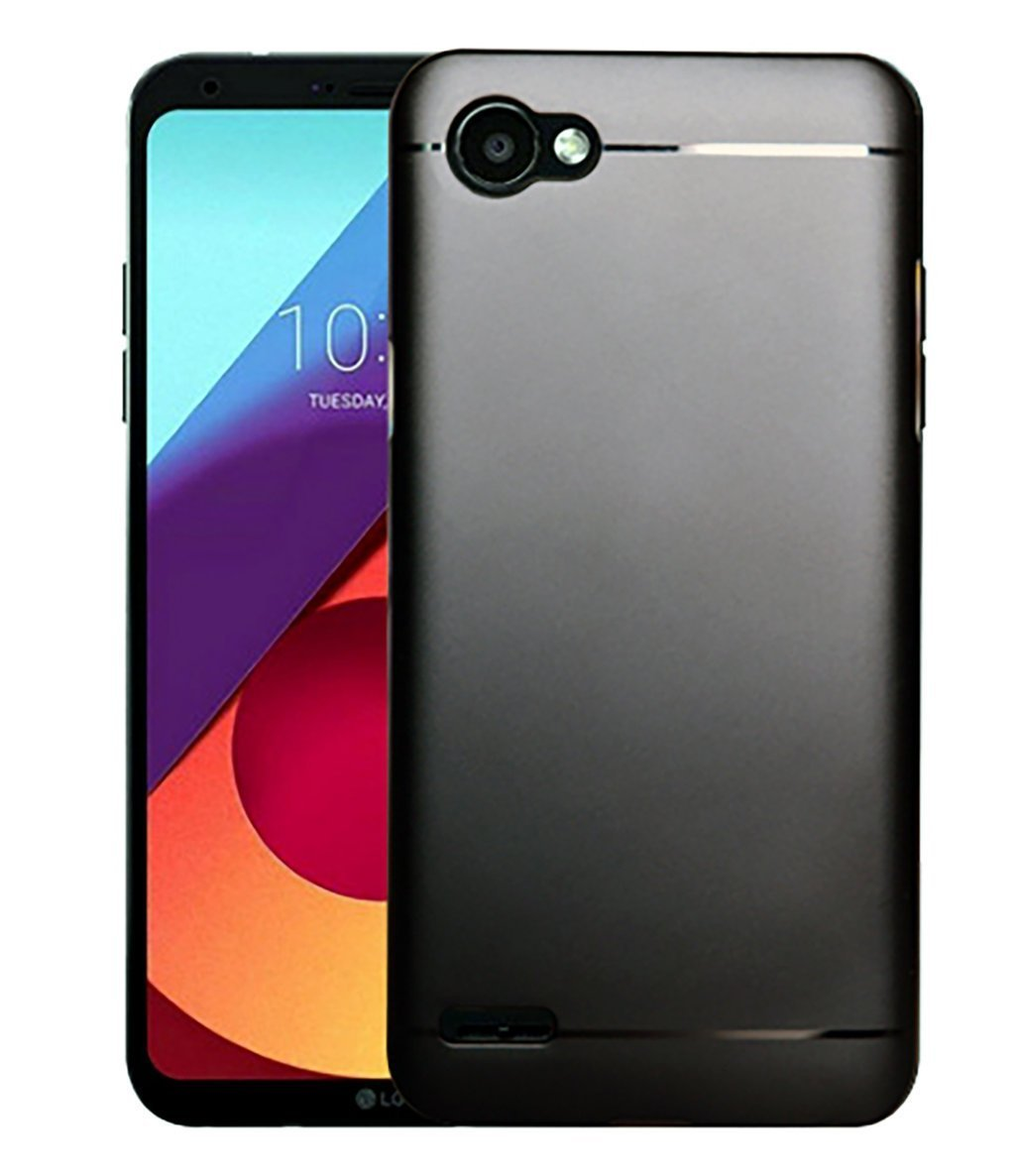 LG Q6 Silicon Soft Back Cover Protective Case (Black)