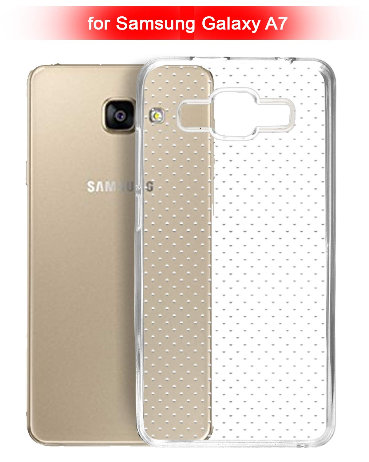 Samsung Galaxy A7 Silicone Soft Back Case Cover (Transparent)