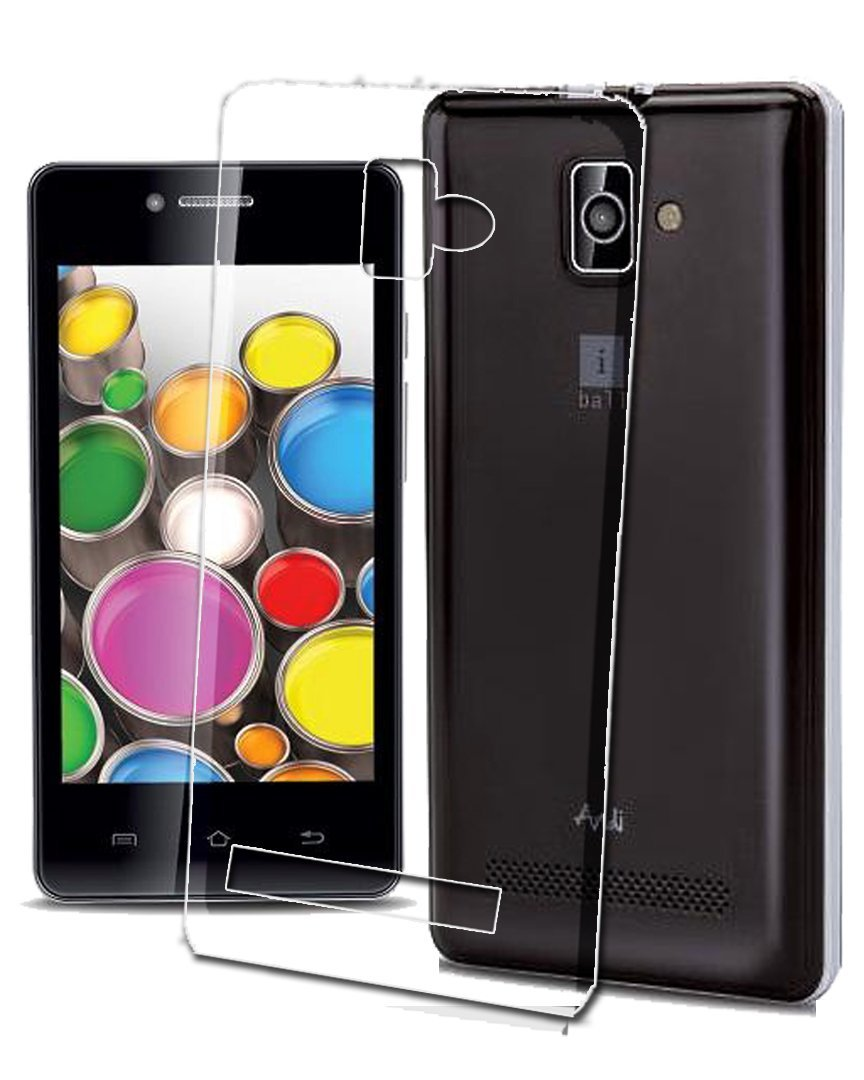 iBall Andi4 B20 Silicone Soft Back Case Cover (Transparent)