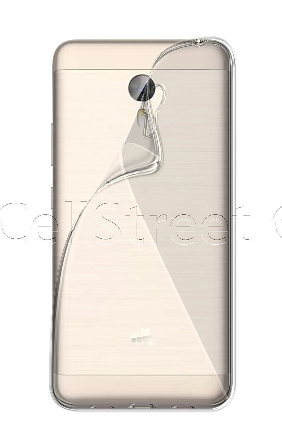 Micromax Canvas Evok Note E453 Silicone Soft Back Case Cover (Transparent)