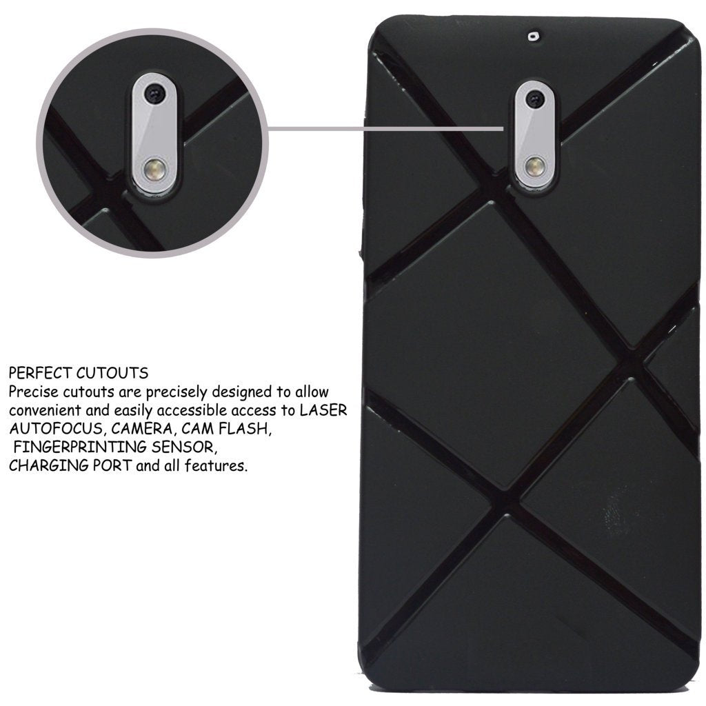 Nokia 6 Rubberised Matte Soft Back Cover - Brown