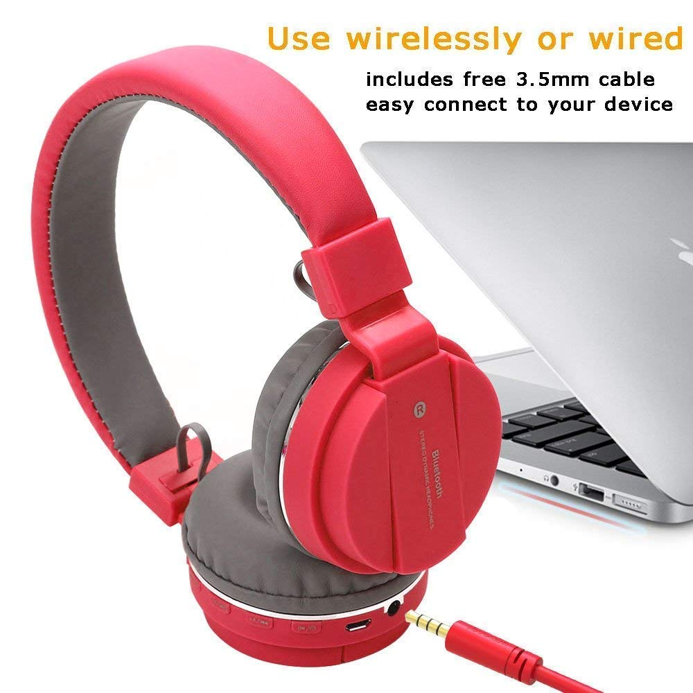 Bluetooth headphone with SD Card Slot/ with music and calling controls Bluetooth Headset  (Wireless over the head)