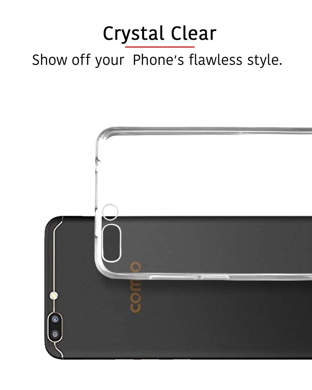 Comio S1 Silicone Soft Back Case Cover (Transparent)