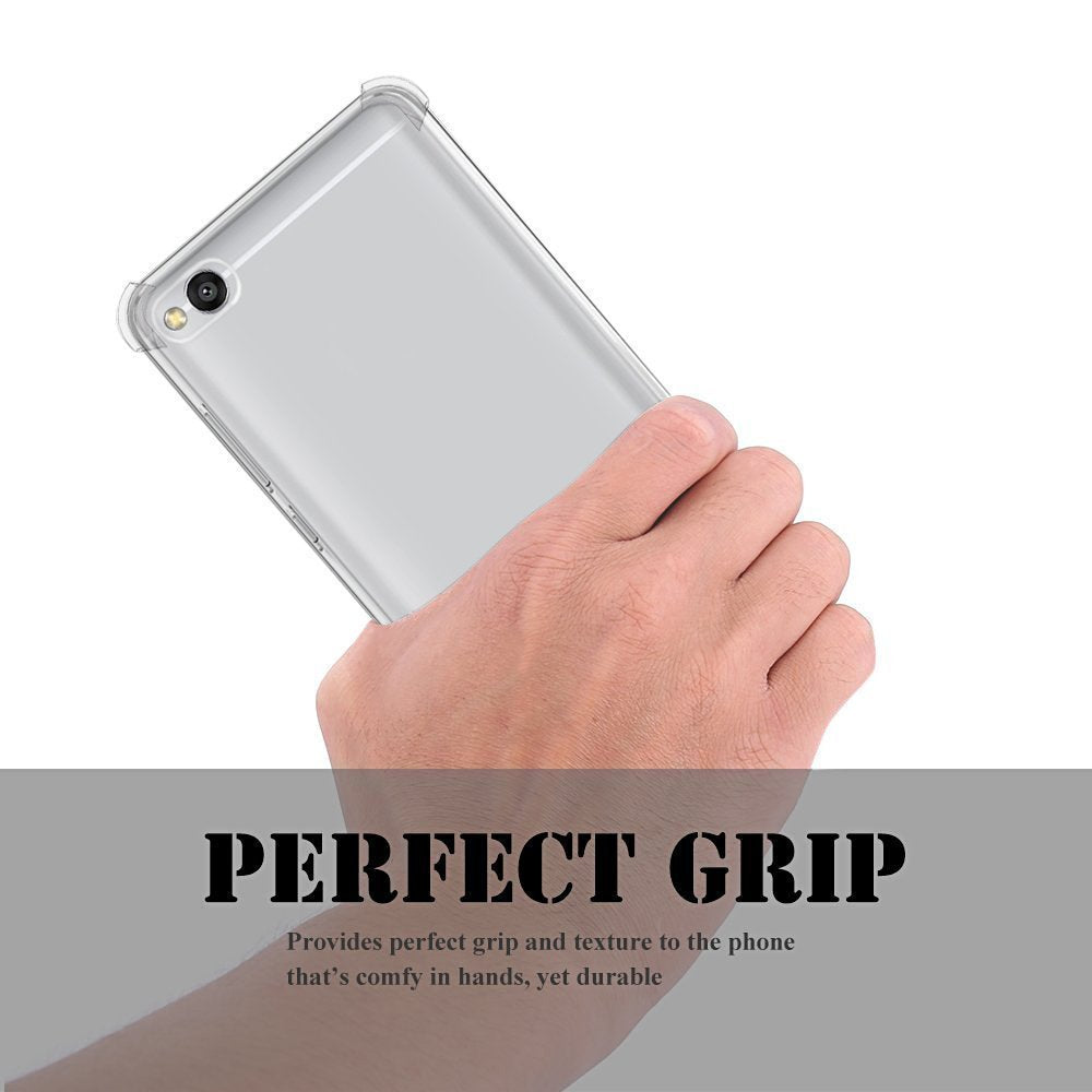 Xiaomi Redmi 5A Soft PC TPU Bumper Slim Protective Back Cover Case (Transparent)