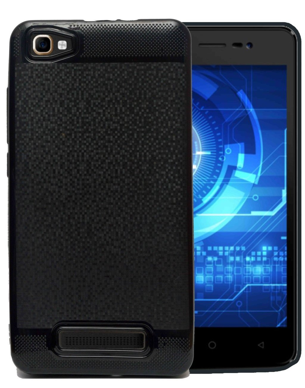 Karbonn K9 Smart Silicon Soft Back Cover Protective Case (Black)