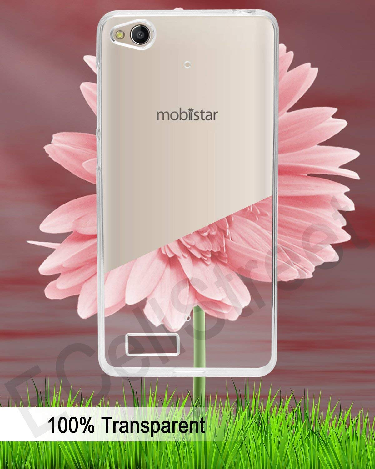 Mobiistar CQ 5 inch Silicone Soft Back Case Cover (Transparent)