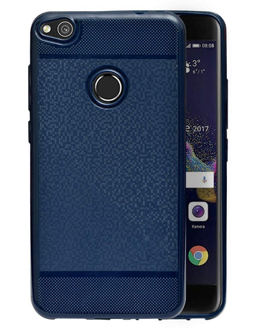 Huawei Honor P8 Lite Soft Back Case Cover With Camera Protection - Dark Blue