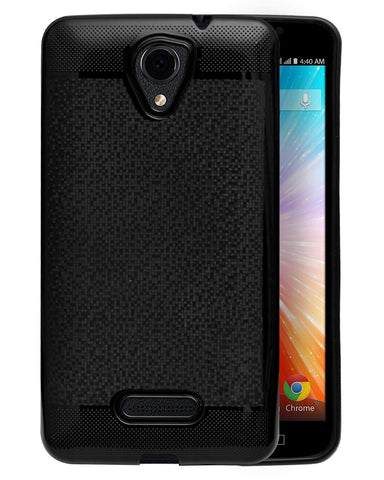 Panasonic Eluga L2 4G Soft Back Case Cover With Camera Protection - Black