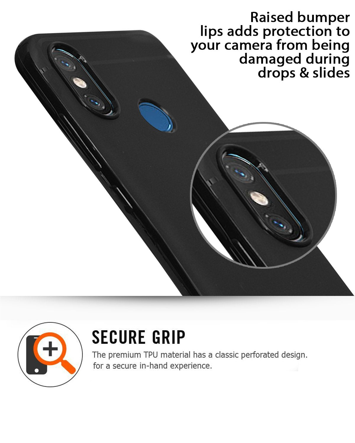 Xiaomi Mi 8 Silicon Soft Back Cover Protective Case (Black)