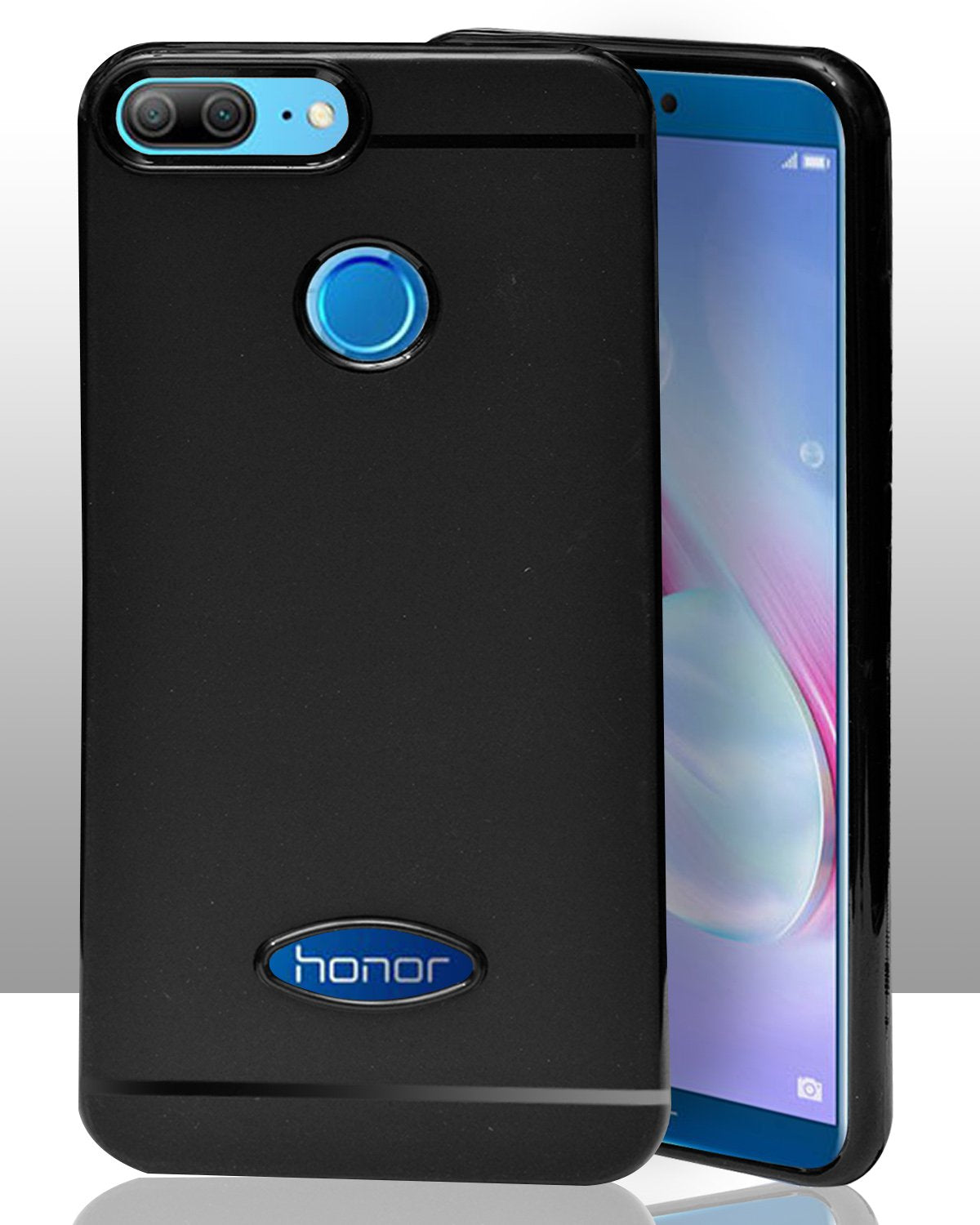 Huawei Honor 9 Lite Silicon Soft Back Cover Protective Case (Black)