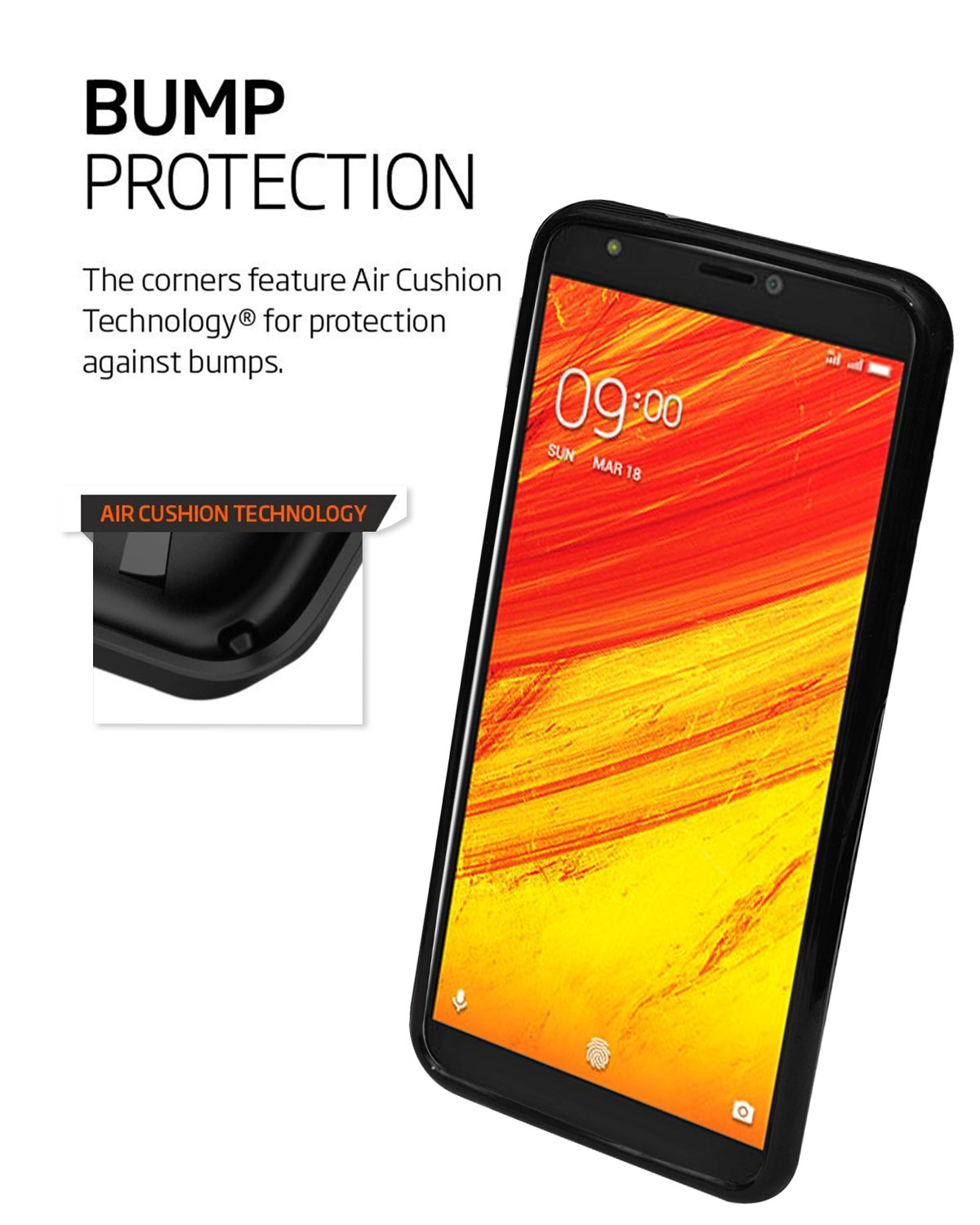 Lava Z91 Silicon Soft Back Cover Protective Case (Black)