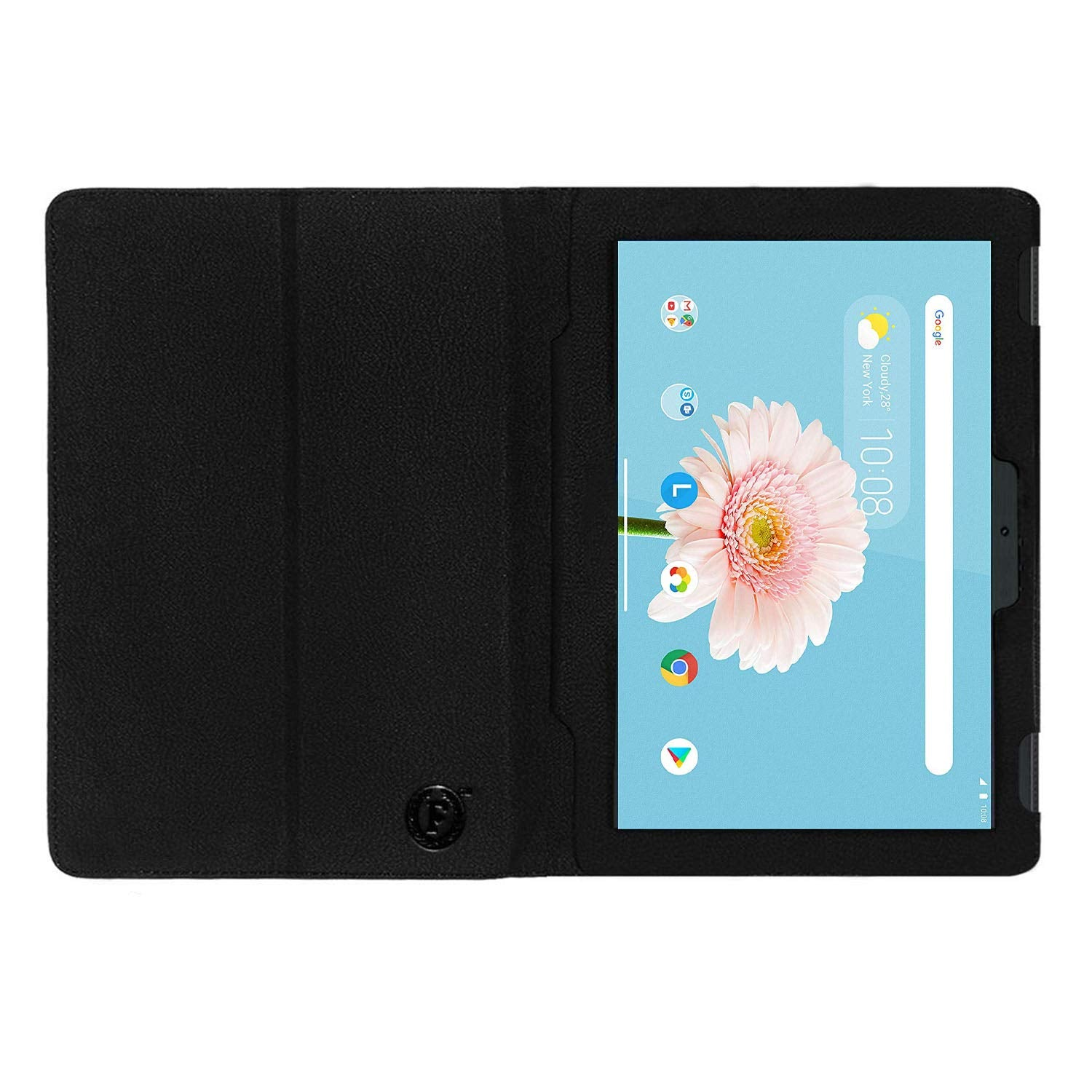 Executive Leather Flip Flap Case for Lenovo Tab M10 (HD) 10.1 inch with Wi-Fi+4G Tablet Front & Back Cover-Black