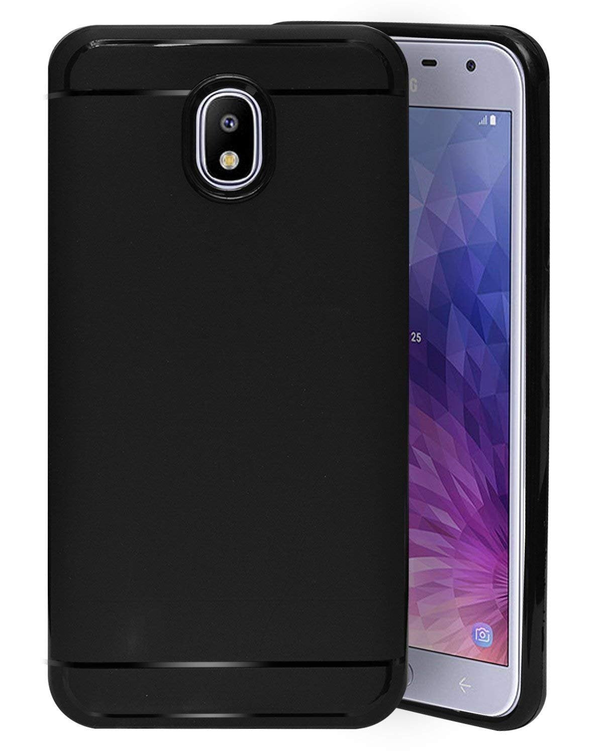 Samsung Galaxy J3 2018 Silicon Soft Back Cover Protective Case (Black)