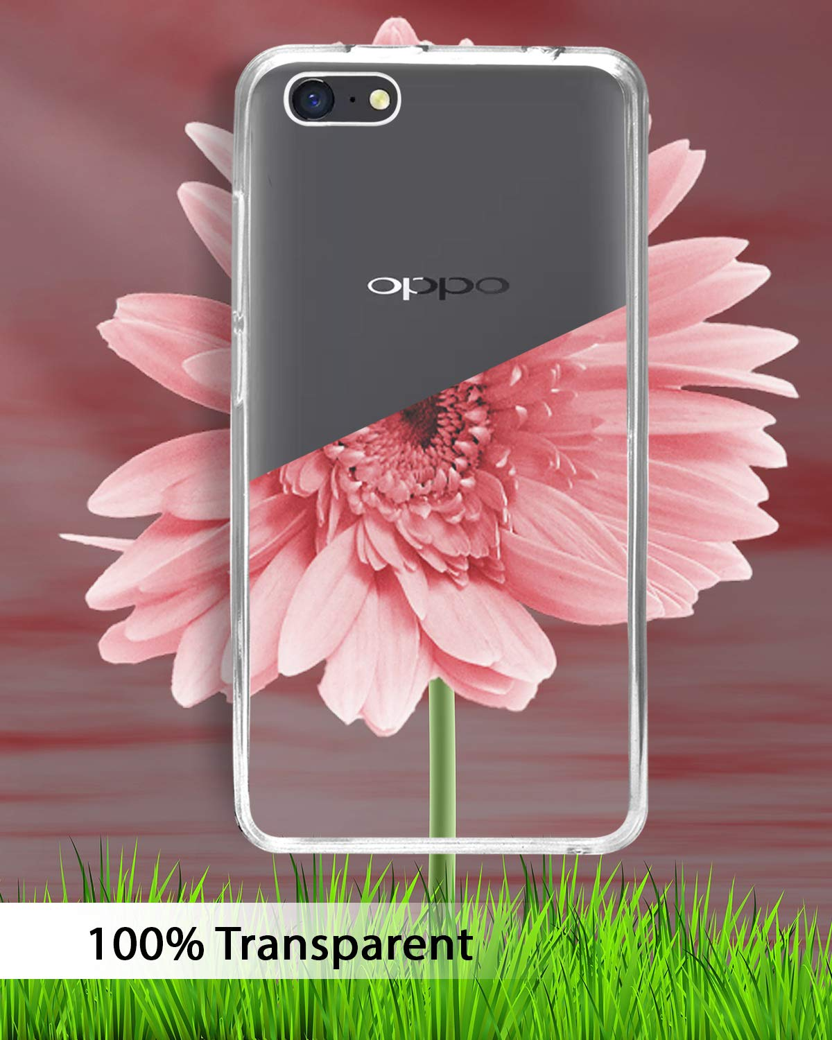 Oppo A71 Silicone Soft Back Case Cover (Transparent)
