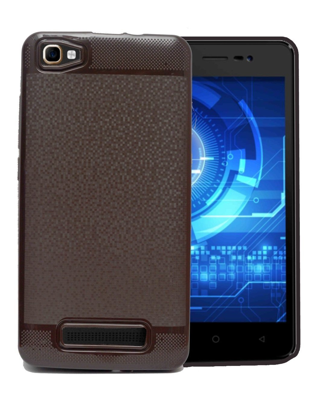 Gionee S10 Soft Back Case Cover with Camera Protection - Brown
