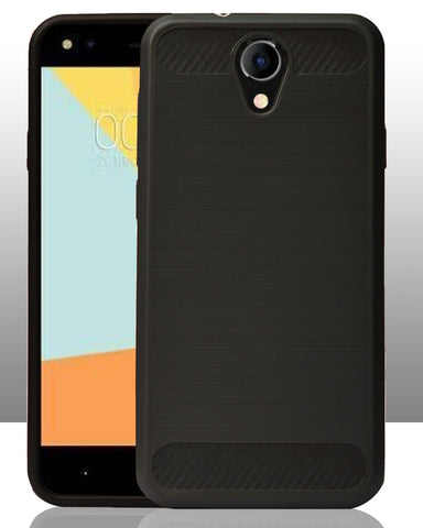 Micromax Bharat 4 Q440 Rubberised Soft Back Case Protective Cover (Black)