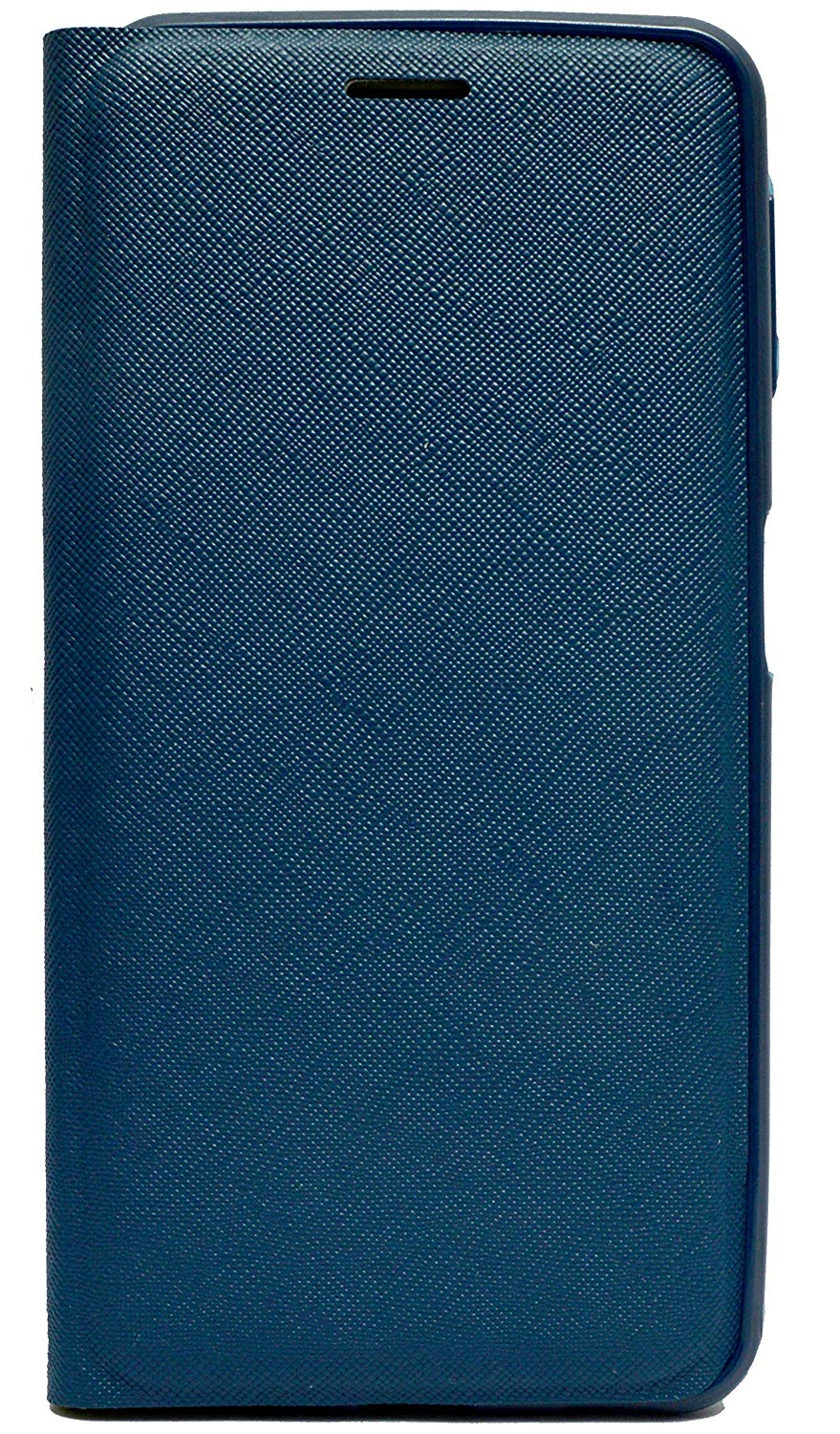 Samsung Galaxy A50 Textured Flip Cover Case with Card Holder - Blue