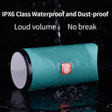TG 113 Waterproof Portable Column Bluetooth Music Speakers (Assorted Color)