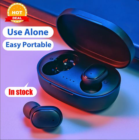 Wireless Earphones For Xiaomi Redmi Airdots Voice Control Bluetooth 5.0 Noise Reduction Tap Control Earbuds