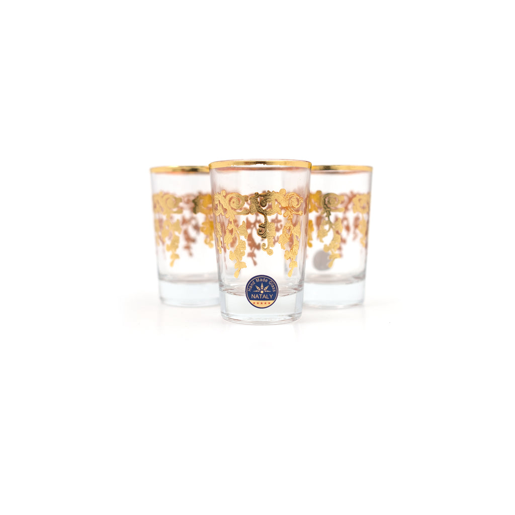 ROMA GRAPPA GOLD TEA CUPS