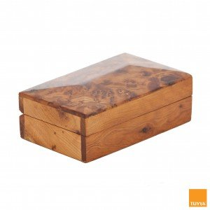THUYA WOODBOX MEDIUM SIMPLE RECTANGULAR JEWELLERY