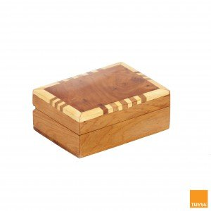 THUYA WOODBOX RECTANGULAR SIMPLE LEMON