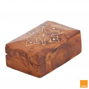 THUYA WOODBOX FLORAL RECTANGULAR SIMPLE INLAYED MARQUETERY PATTERN