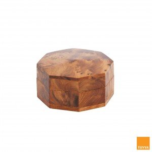 THUYA WOODBOX MEDIUM OCTAGONAL SIMPLE