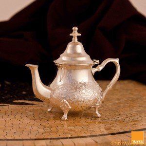 TEAPOT TRADITION FLORAL SILVERPLATED M2 LEGS