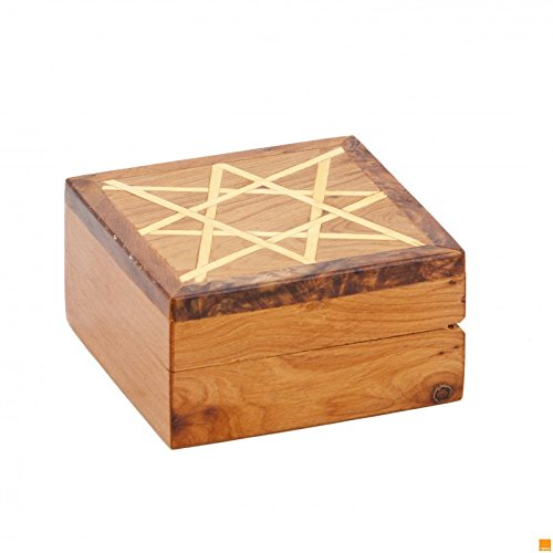 THUYA WOODBOX SQUARE SECTION STAR LEMON