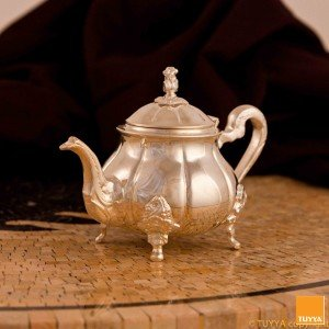 TEAPOT MANCHESTER SIMPLEROYAL SILVERPLATED L LEGS