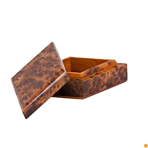 DIAMOND SHAPE THUYA WOOD BOX