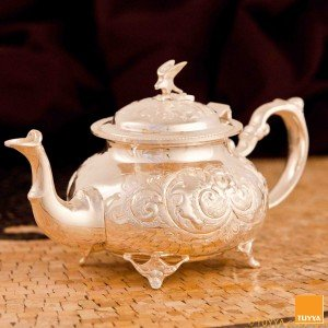 TEAPOT MANCHESTER ROYAL SILVERPLATED L LEGS