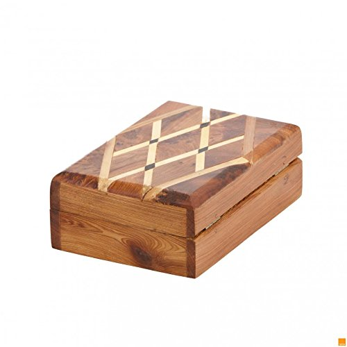 THUYA WOODBOX RECTANGULAR SECTION DIAMOND LEMON EBONY