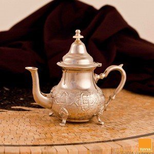 TEAPOT TRADITION ARABESQUE NICKEL L LEGS