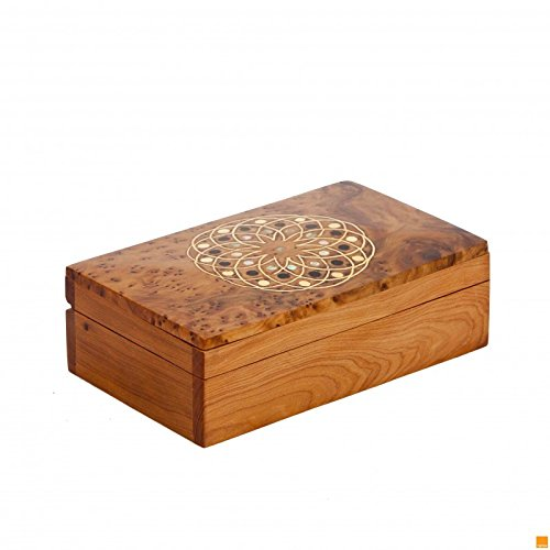THUYA WOODBOX ARABESQUE RECTANGULAR SIMPLE MARQUETERY PATTERN