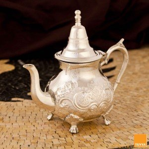TEAPOT ANTIQUE ARABESQUE SILVERPLATED L LEGS