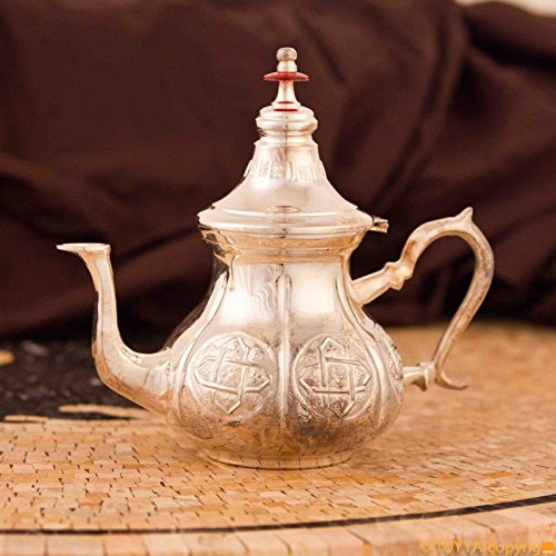 TEAPOT ANTIQUE ARABESQUE SILVERPLATED L NOLEGS