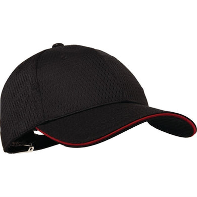 Chef Works Cool Vent baseball cap zwart en rood
