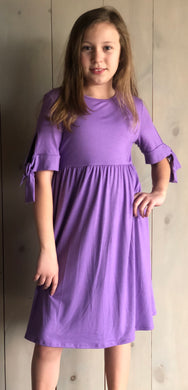 Lavender Midi with Tie Sleeves
